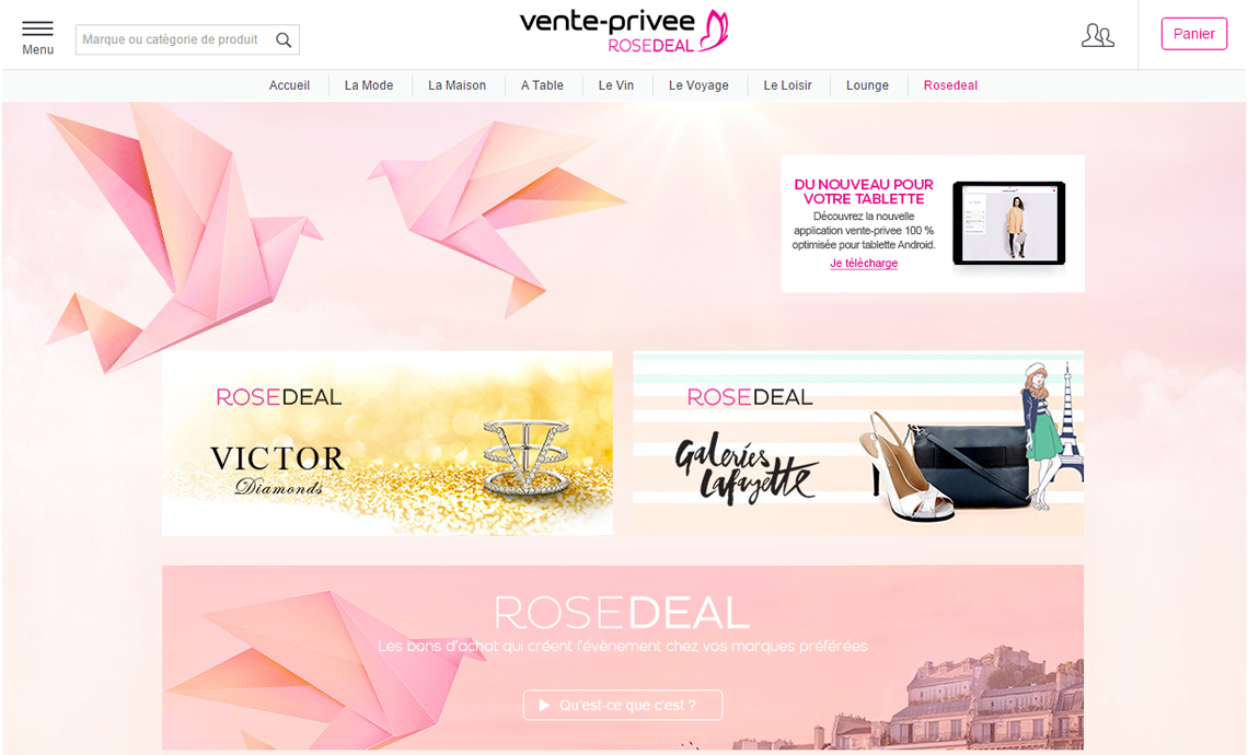 Vente privée Rose Deal